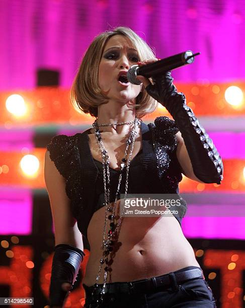 Rachel Stevens performing live on stage at the T4 Poll Winners' Party 2005 With Smash Hits at Wembley Arena Pavilion on November 20th 2005 in London...