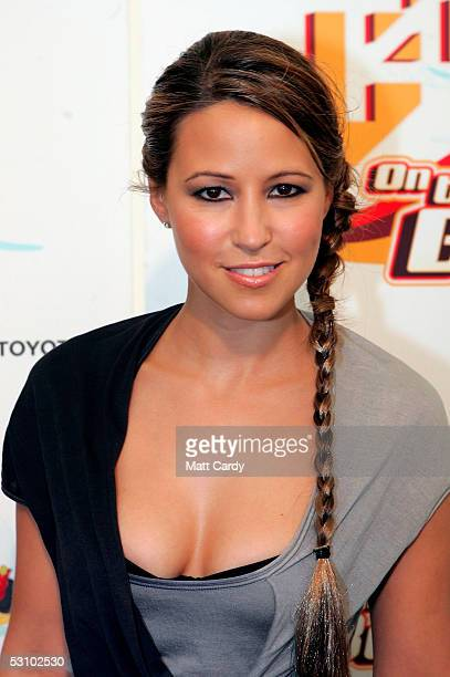 Rachel Stevens poses backstage at T4 On The Beach the third annual beachparty and concert from T4 at WestonSuperMare on June 19 2005 in Somerset...