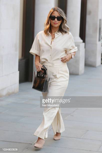 Rachel Stevens seen attending Aspinal of London show during London Fashion Week September 2018 on September 17 2018 in London England