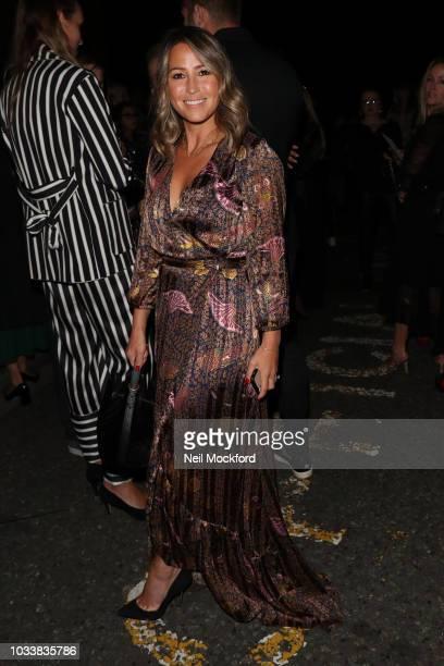 Rachel Stevens seen attending Julian Macdonald during London Fashion Week September 2018 on September 15 2018 in London England
