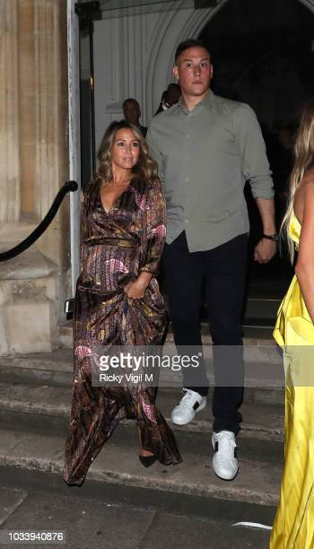 Rachel Stevens seen attending LFW s/s 2019 Julien Macdonald catwalk show afterparty at St John's Hyde Park during London Fashion Week September 2018...