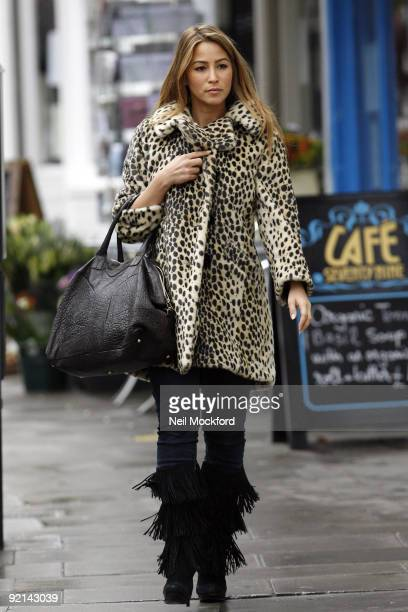 Rachel Stevens sighted shopping and doing her dry cleaning in Primrose Hill on October 21 2009 in London England