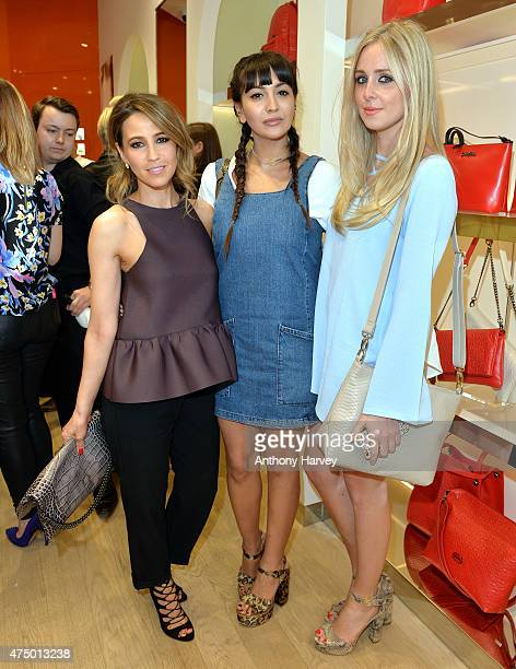 Rachel Stevens Zara Martin and Diana Vickers attend the launch of the New Folli Follie Flagship Store on Oxford Street on May 28 2015 in London...