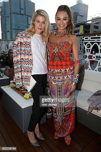 Rachel Taylor Camilla Franks attend the Camilla show at MercedesBenz Fashion Week Resort 17 Collections at The Seadeck on May 19 2016 in Sydney...