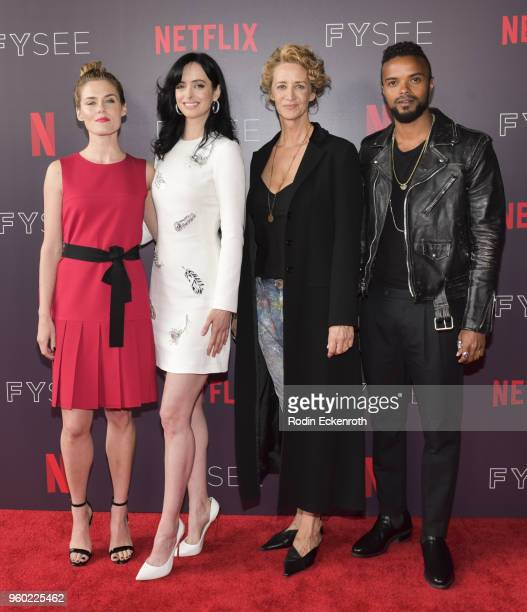 Rachel Taylor Krysten Ritter Janet McTeer and Eka Darville arrive at the #NETFLIXFYSEE event for Jessica Jones at Netflix FYSEE at Raleigh Studios on...