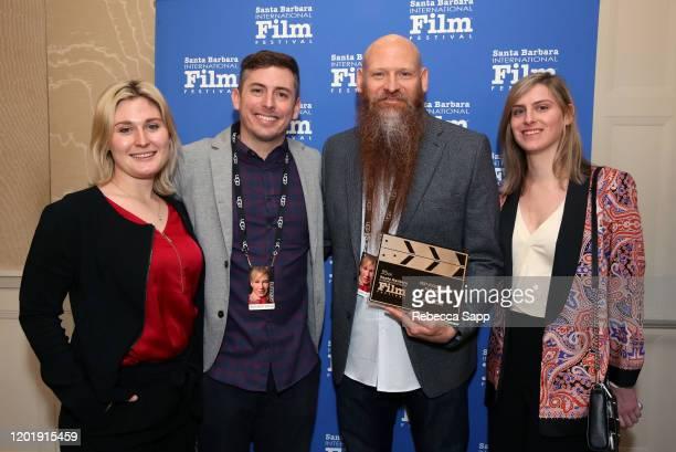 Rachel Tennant Brian Morrison Mark Stafford and Olivia Jones attend the Awards Breakfast during the 35th Santa Barbara International Film Festival at...