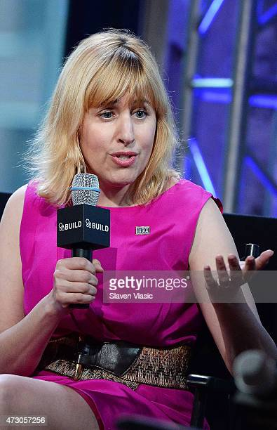 Rachel Tischler of the USO attends AOL Build Speaker Series 'Sesame Street's Grover And The USO Dr Jeanette Betancourt And Rachel Tischler' at AOL...
