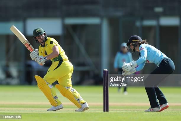 Rachel Trenaman of Australia A Women bats during the match between England Women and Australia A Women at Haslegrave Ground on June 29 2019 in...