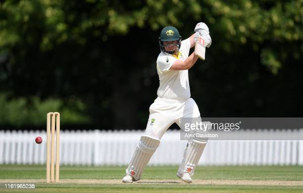 Rachel Trenaman of Australia bats during Day Three of the International Friendly match between England Women and Australia A Women at Millfield...