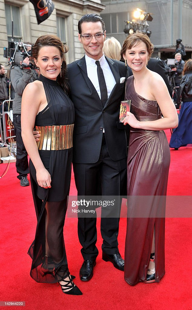Rachel Tucker, Matt Willis and Gina Beck arrive at the 2012 Olivier Awards held at The Royal Opera House on April 15, 2012 in London, England.