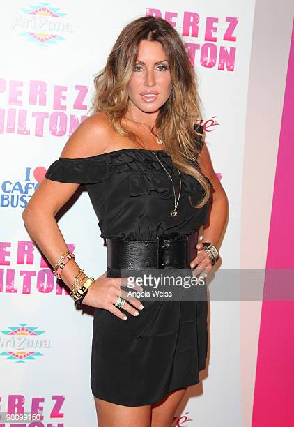 Rachel Uchitel attends Perez Hilton's 'CarnEvil' 32nd birthday party at Paramount Studios on March 27 2010 in Los Angeles California