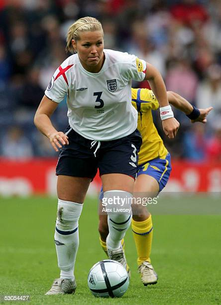 Rachel Unitt of England during the Women's UEFA European Championship 2005 Group A game between England and Sweden at Ewood Park on June 11 2005 in...