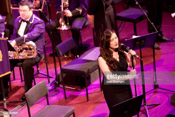 Rachel Unthank of The Unthanks performs on stage at Leeds Town Hall on September 15 2011 in Leeds United Kingdom