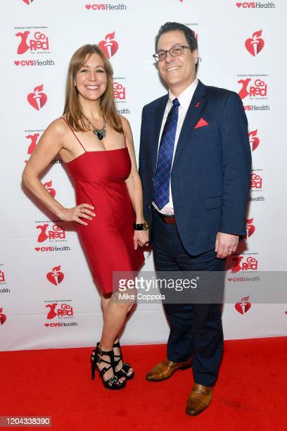 Rachel Vail and Mitch Elkind attend The American Heart Association's Go Red for Women Red Dress Collection 2020 at Hammerstein Ballroom on February...