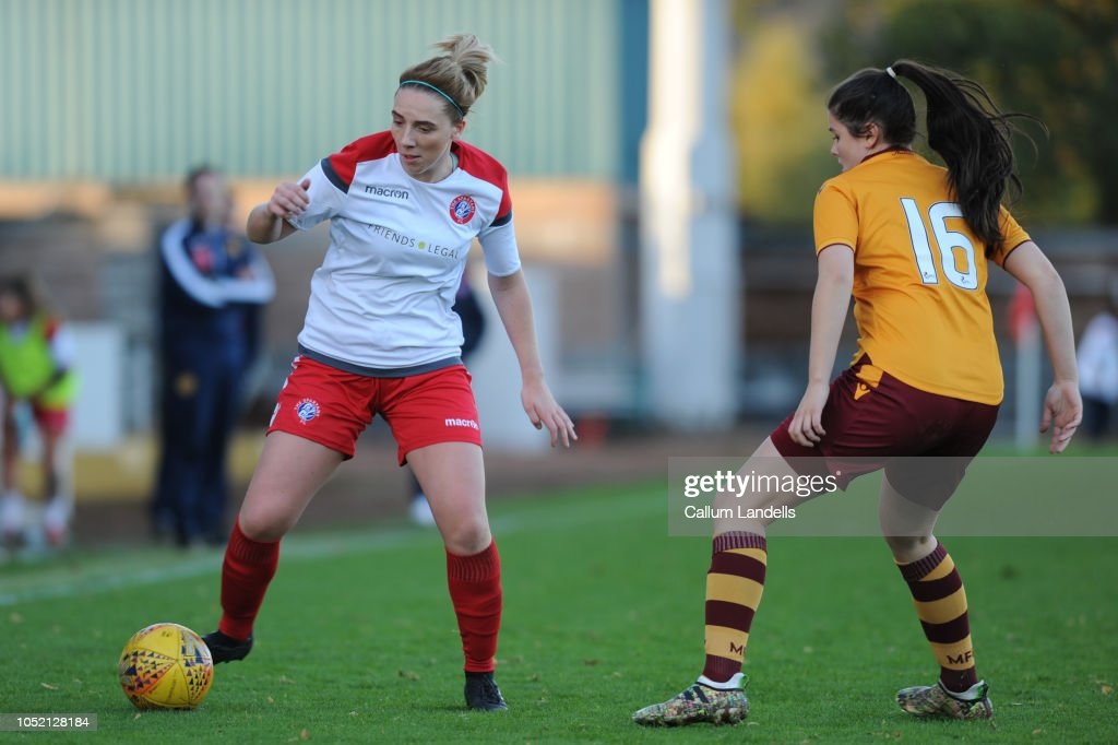 Motherwell Ladies v Spartans Women - SSE Scottish Women's Cup Semi Final : News Photo