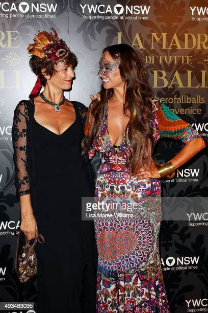 Rachel Ward and Camilla Franks attend the YMCA Mother of All Balls at Town Hall on May 24 2014 in Sydney Australia