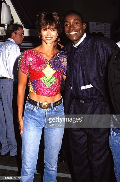Rachel Ward and Isiah Thompson at the 1990 MTV Video Music Awards at in Los Angeles California