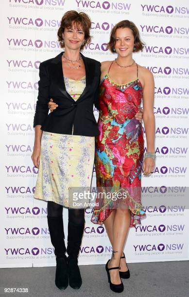 Rachel Ward and Matilda Brown arrive for the YMCA Mother of all Cocktail Parties ball at Nick's Bondi Beach Pavilion on November 7 2009 in Sydney...