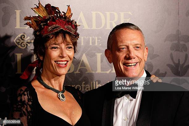 Rachel Ward and Simon Burke attend the YMCA Mother of All Balls at Town Hall on May 24 2014 in Sydney Australia