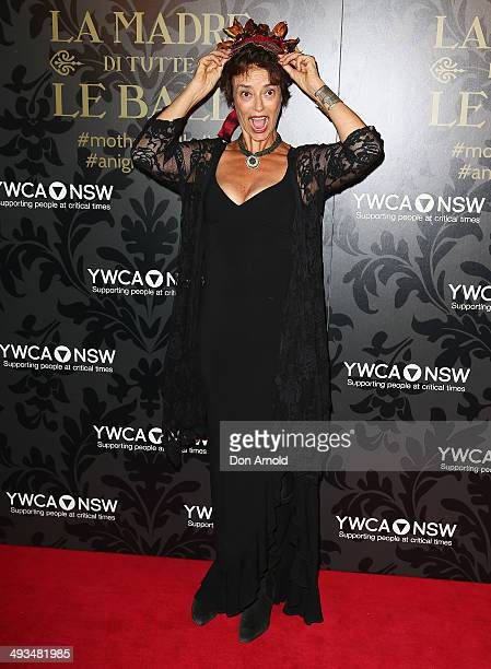 Rachel Ward arrives at the YMCA Mother of All Balls at Sydney Town Hall on May 24 2014 in Sydney Australia