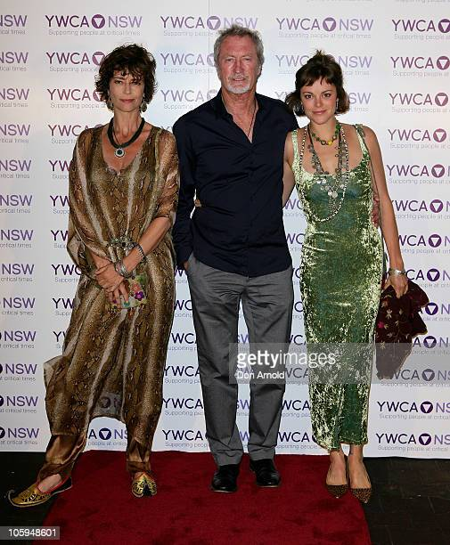 Rachel Ward Bryan Brown and Matilda Brown arrive at the Mother of all Balls the YMCA New South Wales' annual fundraiser at Royal Randwick Racecourse...