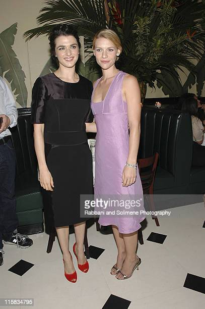 Rachel Weisz and Claire Danes during Olympus Fashion Week Spring 2006 Narciso Rodriguez After Party at Indochine in New York New York United States