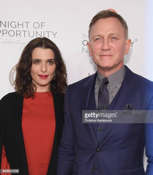 Rachel Weisz and Daniel Craig attend The Opportunity Network's 11th Annual Night of Opportunity at Cipriani Wall Street on April 9 2018 in New York...