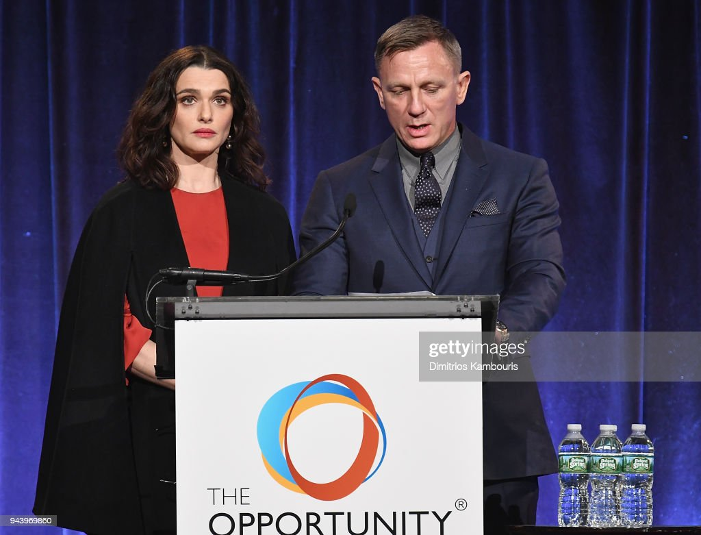 Rachel Weisz and Daniel Craig attend The Opportunity Network's 11th Annual Night of Opportunity at Cipriani Wall Street on April 9, 2018 in New York City.