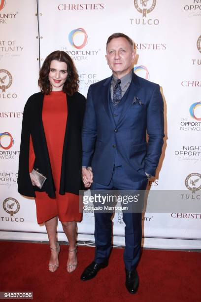 Rachel Weisz and Daniel Craig attend The Opportunity Network's 11th Annual Night of Opportunity Gala at Cipriani Wall Street on April 9 2018 in New...