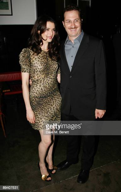 """Rachel Weisz and Darren Aronofsky attend the afterparty following the press night for """"A Streetcar Named Desire"""" at The National Cafe on July 28,..."""