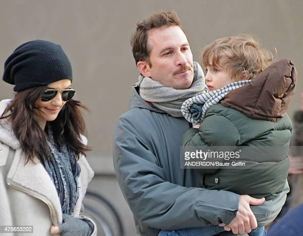 Rachel Weisz and Darren Aronofsky with their son Henry Chance are seen on January 05 2011 in New York City