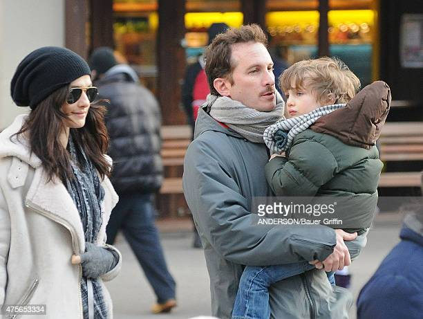 Rachel Weisz and Darren Aronofsky with their son Henry Chance are seen on January 05, 2011 in New York City.