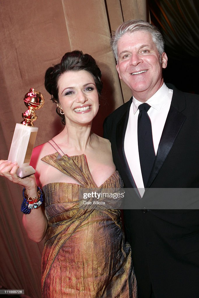 Rachel Weisz and Focus Features' John Lyons during Focus Features, NBC Universal Television Group and Universal Pictures 2006 Golden Globes After Party at Beverly Hilton in Beverly Hills, California, United States.