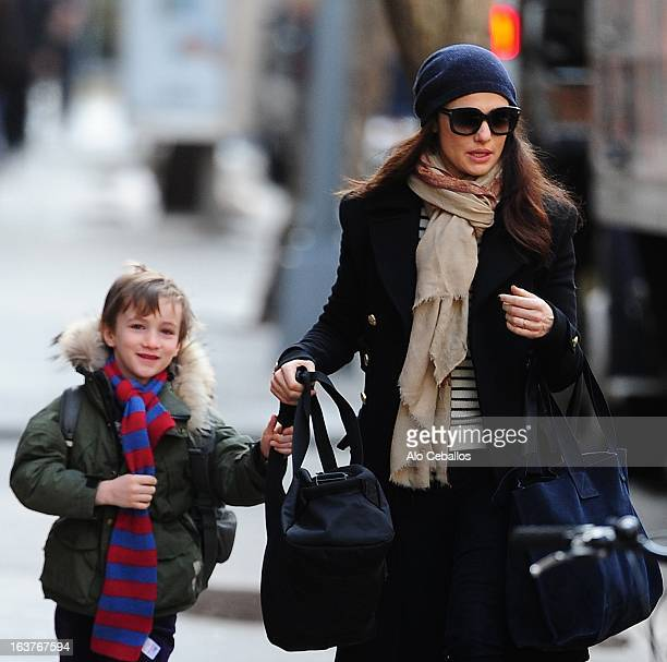 Rachel Weisz and Henry Aronofsky are seen in the East Village on March 15 2013 in New York City