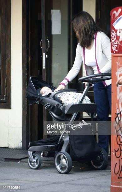 Rachel Weisz and Henry Chance Aronofsky during Rachel Weisz Sighting Outside 12 Chairs Restaurant in New York City at SOHO in New York City New York...