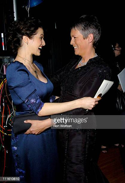 Rachel Weisz and Jamie Lee Curtis during 12th Annual Screen Actors Guild Awards Backstage and Audience at Shrine Expo Hall in Los Angeles California...
