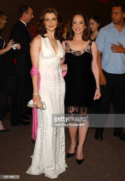 Rachel Weisz and Lilly Tartikoff during The Louis Vuitton United Cancer Front Gala Arrivals at Private Residence in Holmby Hills California United...