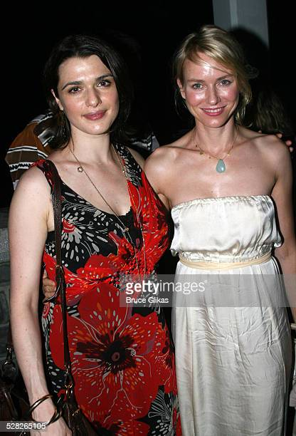 Rachel Weisz and Naomi Watts during Opening Night Afterparty for Macbeth at The Belvedere Castle in Central Park at The Belvedere Castle in Central...
