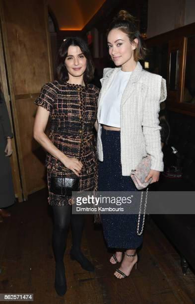 Rachel Weisz and Olivia Wilde attend Through Her Lens The Tribeca Chanel Women's Filmmaker Program Luncheon at Locanda Verde on October 17 2017 in...