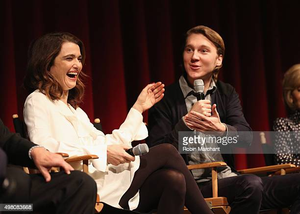 Rachel Weisz and Paul Dano attends The Academy Of Motion Picture Arts And Sciences Hosts An Official Academy Screening Of YOUTH on November 20 2015...