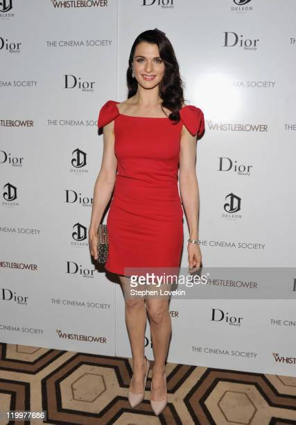 Rachel Weisz attends a screening of The Whistleblower hosted by the Cinema Society Dior Beauty with DeLeon at the Tribeca Grand Hotel on July 27 2011...