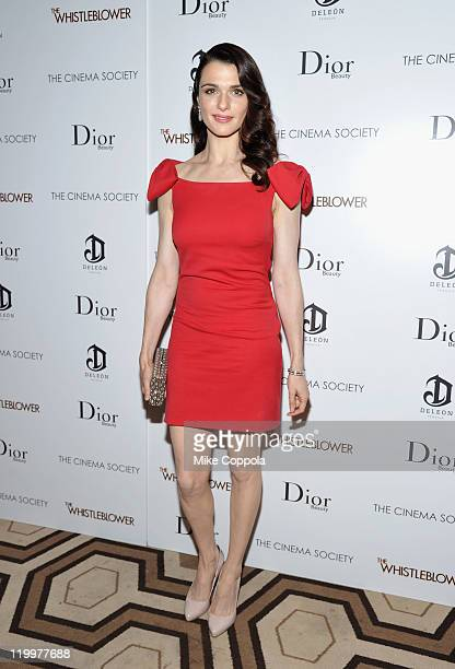 Rachel Weisz attends a screening of The Whistleblower hosted by the Cinema Society Dior Beauty with DeLeo at the Tribeca Grand Hotel on July 27 2011...