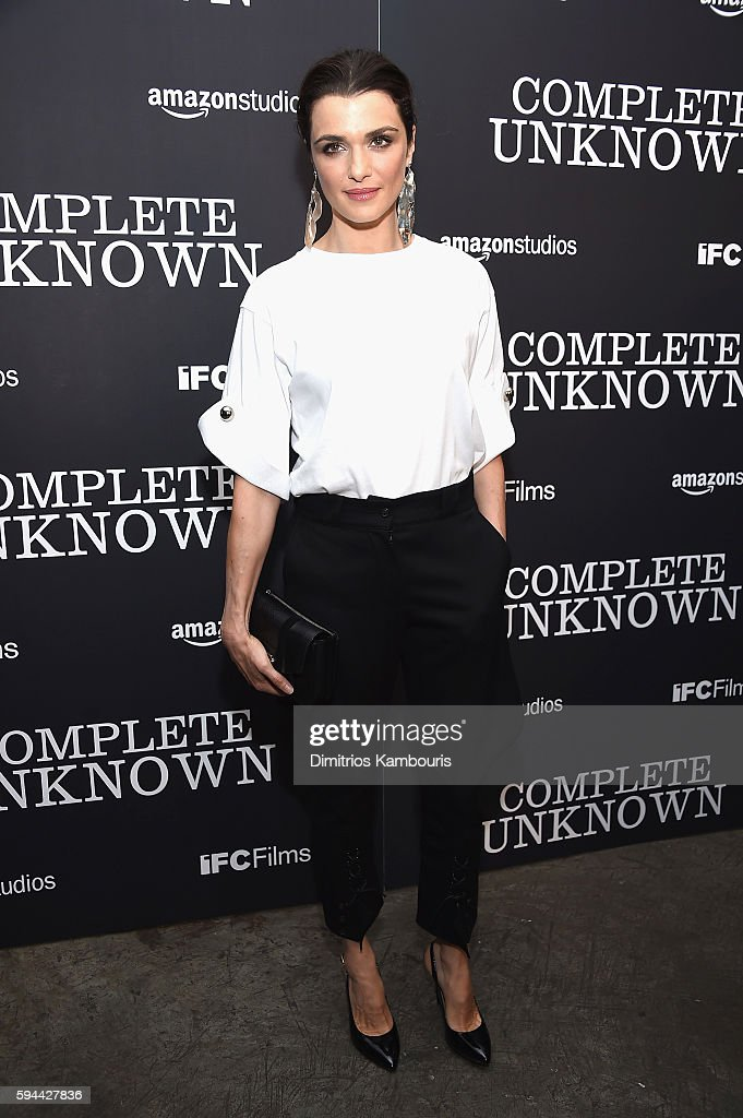 Rachel Weisz attends the 'Complete Unknown' New York Premiere at Metrograph on August 23, 2016 in New York City.