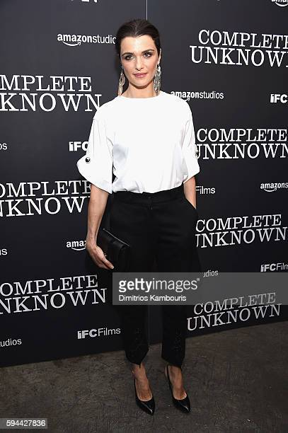 Rachel Weisz attends the Complete Unknown New York Premiere at Metrograph on August 23 2016 in New York City