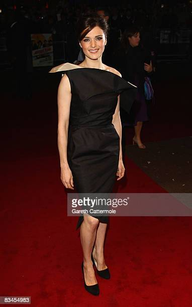 Rachel Weisz attends the UK Premiere of 'The Brothers Bloom' during the BFI 52nd London Film Festival at the Odeon West End on October 27 2008 in...