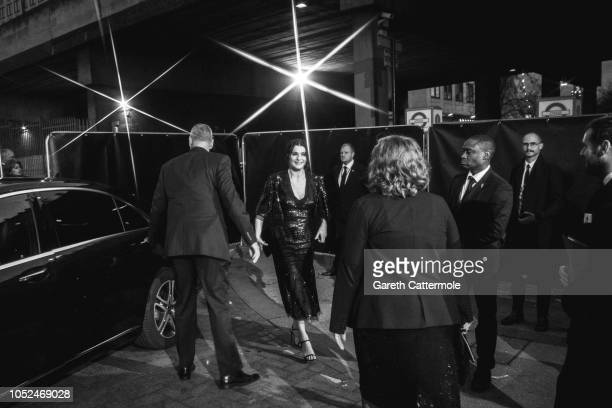Rachel Weisz attends the UK Premiere of 'The Favourite' American Express Gala at the 62nd BFI London Film Festival on October 18 2018 in London...