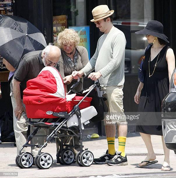 Rachel Weisz, Darren Aronofsky and Henry Chance Aronofsky at the Rachel Weisz sighting in New York City - July 9, 2006 at in New York City, New York.