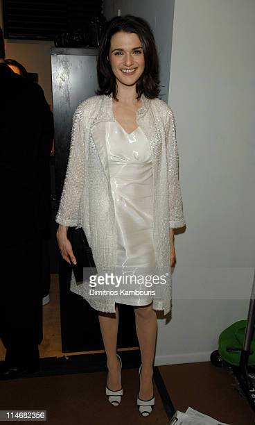 Rachel Weisz during Mercedes Benz Fashion Week Fall 2007 Narciso Rodriguez Front Row and Backstage at 547 West 26th Street in New York City New York...