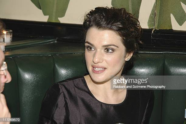 Rachel Weisz during Olympus Fashion Week Spring 2006 Narciso Rodriguez After Party at Indochine in New York New York United States