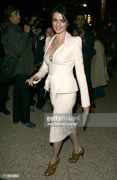 Rachel Weisz during Paris Fashion Week Pret a Porter Spring/Summer 2006 Christian Dior Arrivals at Grand Palais in Paris France